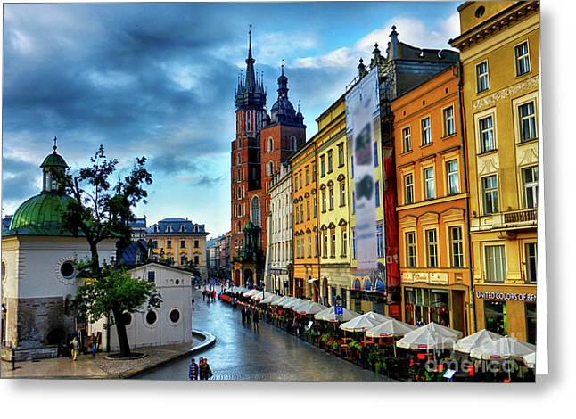 Romance In Krakow Greeting Card by Kasia Bitner