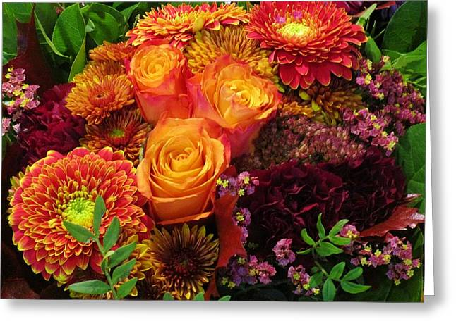 Romance Of Autumn Greeting Card