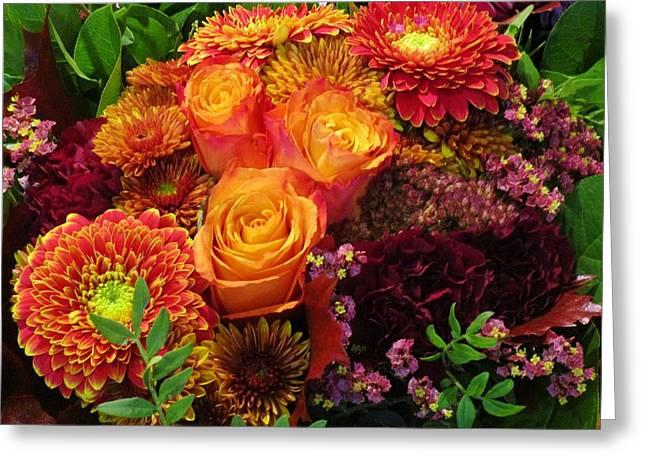 Romance Of Autumn Greeting Card by Rosita Larsson