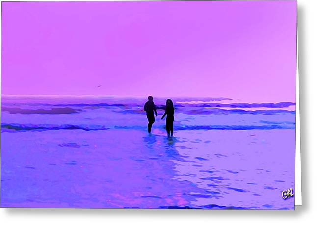 Romance On The Beach Greeting Card