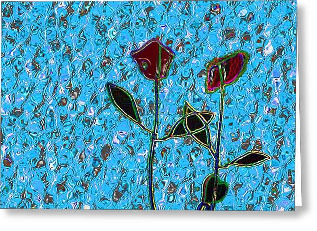 Romancing The Rose Greeting Card by Morgan Rex