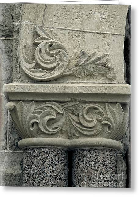 Romanesque Style - Building Macro Greeting Card by Ella Kaye Dickey