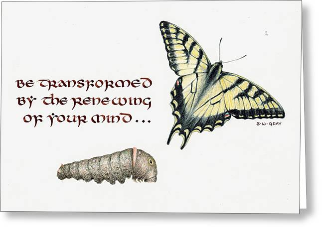 Romans 12 Be Transformed Greeting Card
