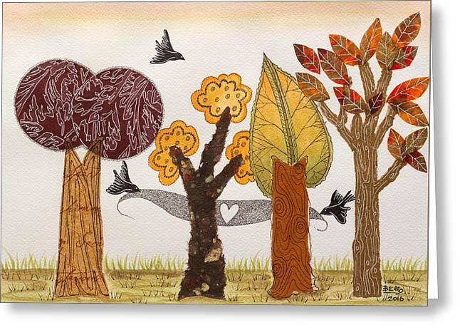 Romantic Autumnal Grove Greeting Card