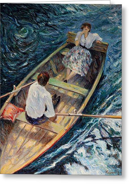 Dordogne , Beynac-et-cazenac , France ,romantic Boat Trip Greeting Card