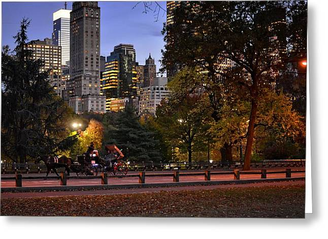 Romantic Carriage Ride Greeting Card by Jim Archer