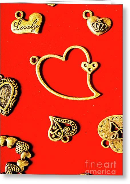 Romantic Heart Decorations Greeting Card