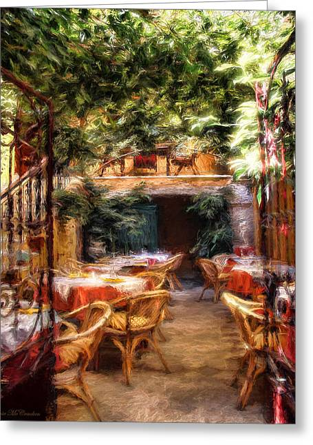 Romantic Restaurant Greeting Card