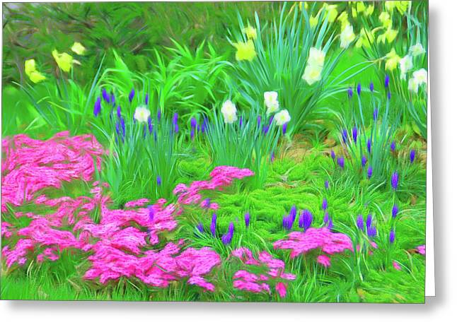 Greeting Card featuring the photograph Romantic Skies Garden Escape by Aimee L Maher Photography and Art Visit ALMGallerydotcom