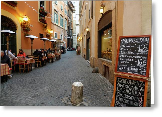 Romantic Streetside Cafe Greeting Card