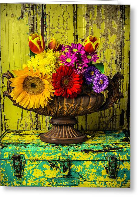 Romantic Vase Still Life Greeting Card by Garry Gay