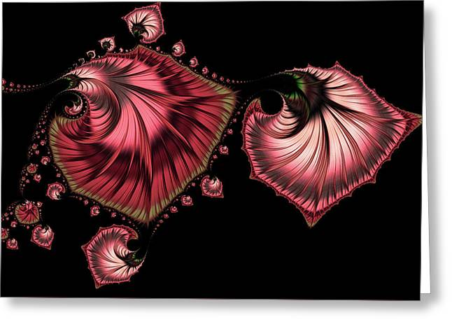Romantically Jewelled Abstract Greeting Card