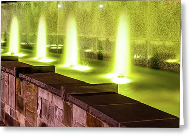 Romare Bearden Park Fountain Panorama Photo Greeting Card by Paul Velgos