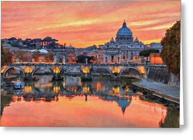 Rome And The Vatican City - 01  Greeting Card