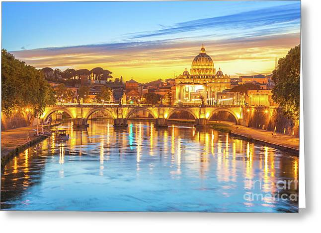 Rome At Twilight Greeting Card