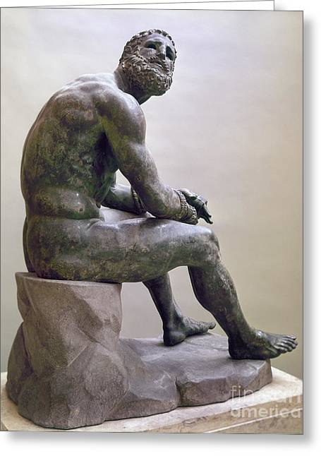 1st Century B.c. Greeting Cards - Rome Boxer Sculpture Greeting Card by Granger