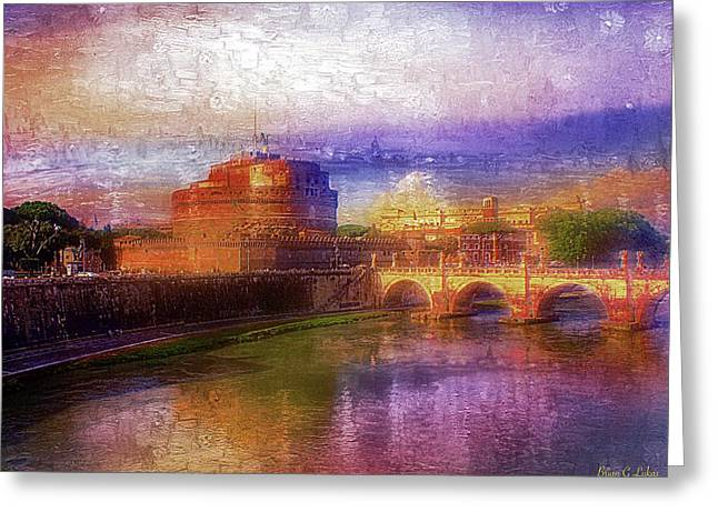 Rome - Castle San Angelo Greeting Card by Brian Lukas