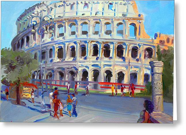 Rome Colosseum Greeting Card by Ylli Haruni