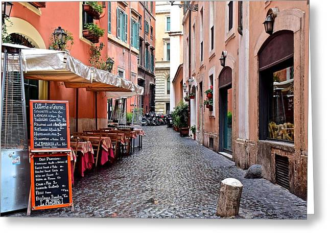 Rome Invites You Greeting Card by Frozen in Time Fine Art Photography