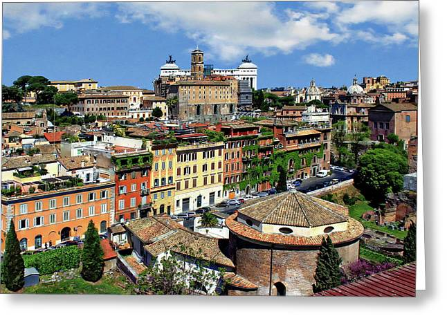 Rome Landscape View Greeting Card by Anthony Dezenzio