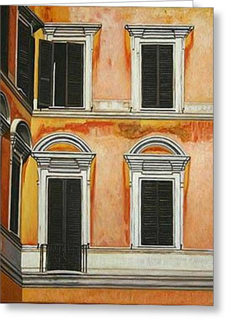 Rome-late Afternoon Greeting Card by Stephen Degan
