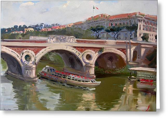 Rome Ponte Matteotti Greeting Card