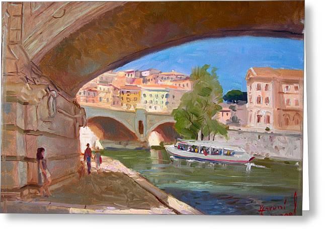 Rome Ponte Vittoria Emanuele Greeting Card