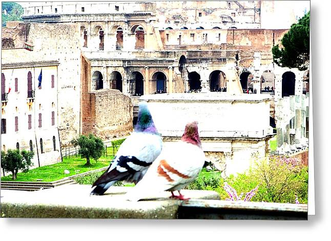 Rome Romance Greeting Card by Mindy Newman