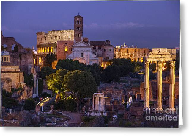 Rome Greeting Card by Spencer Baugh