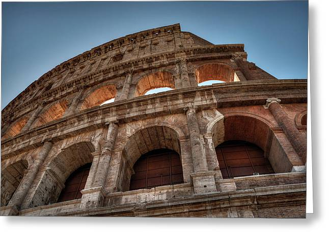 Greeting Card featuring the photograph Rome - The Colosseum 003 by Lance Vaughn