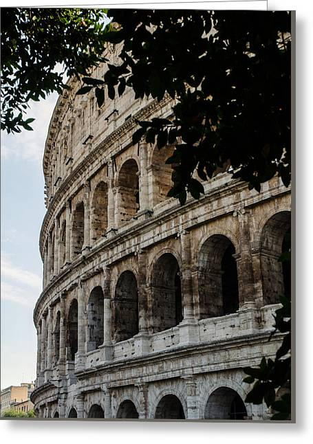 Rome - The Colosseum - A View 2 Greeting Card by Andrea Mazzocchetti