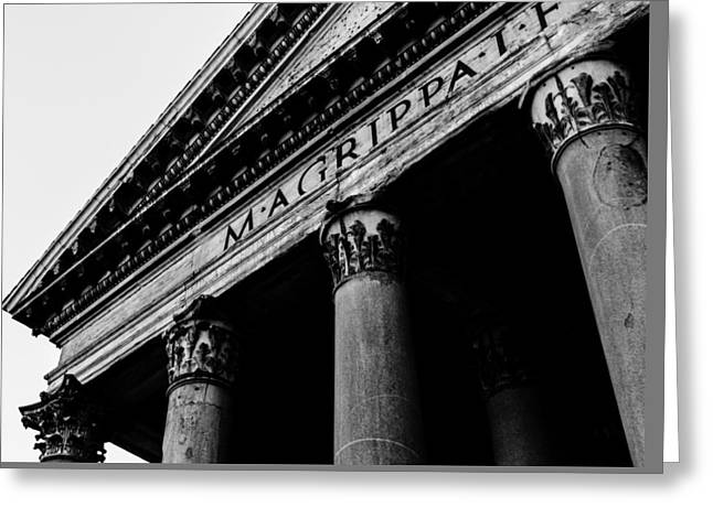 Rome - The Pantheon Greeting Card by Andrea Mazzocchetti