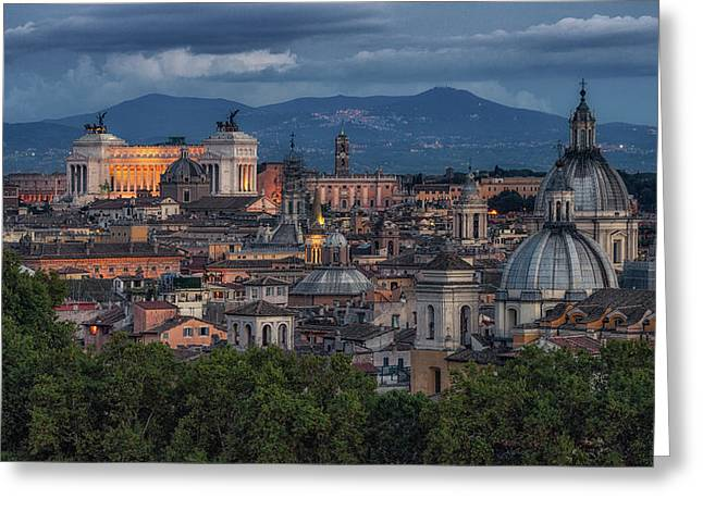 Greeting Card featuring the photograph Rome Twilight by James Billings