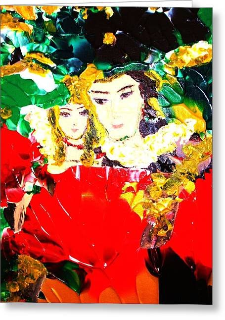 Romeo And Juliet Greeting Card by Carmen Doreal