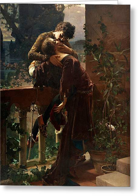Romeo And Juliet On The Balcony Greeting Card