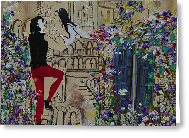 Romeo And Juliet. Greeting Card by Sima Amid Wewetzer