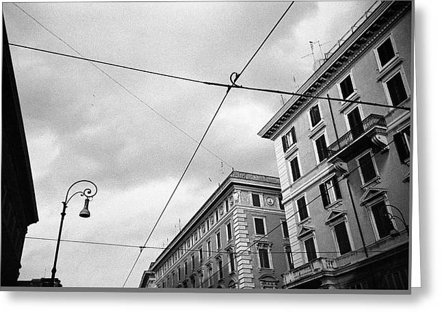 Rome's Downtown Cable Sky Greeting Card