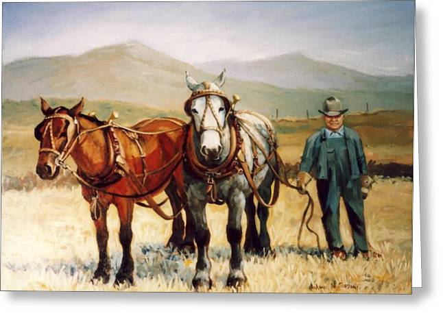 Ron Robison Greeting Card by JoAnne Corpany