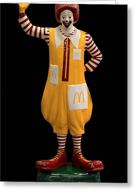Ronald Mcdonald Greeting Card by Andrew Fare