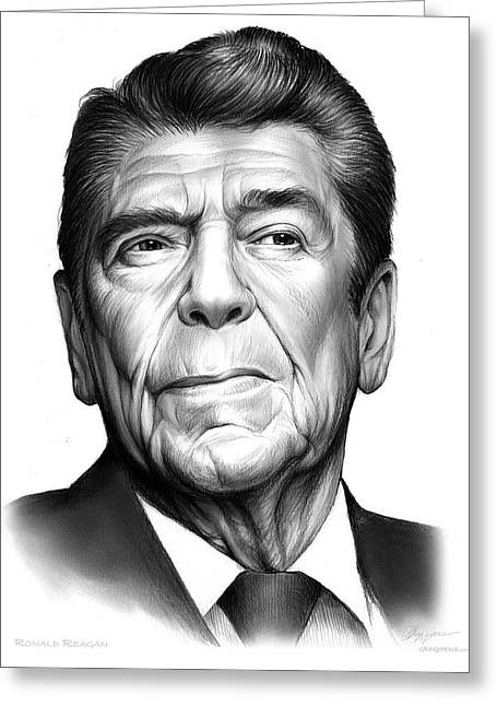 Ronald Regan Greeting Card