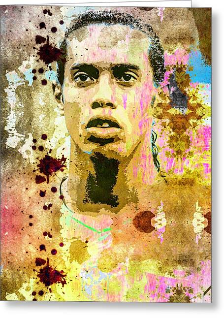 Ronaldinho Gaucho Greeting Card by Svelby Art