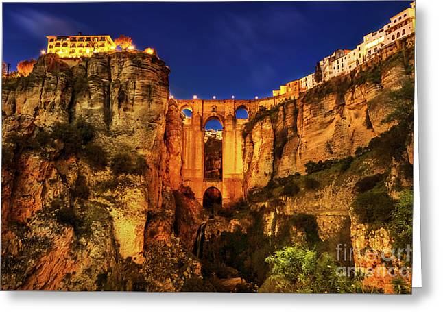 Ronda By Night Greeting Card