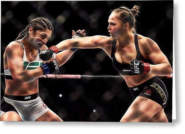 Ronda Jean Rousey  Greeting Card by Marvin Blaine