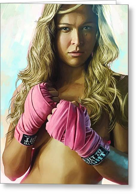 Ronda Rousey Artwork  Greeting Card by Sheraz A