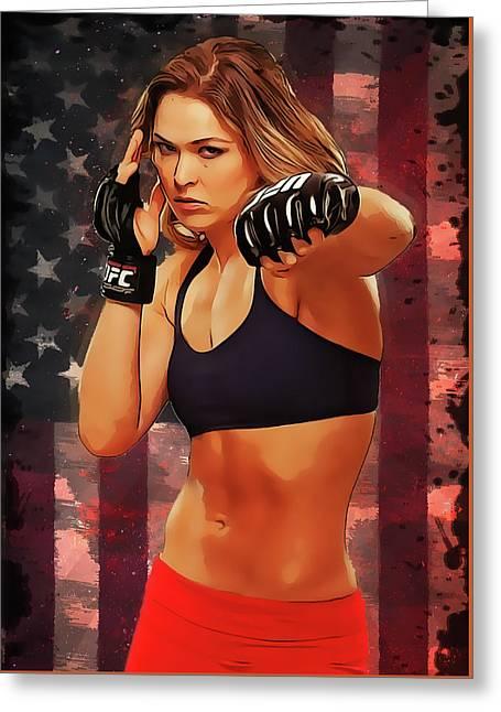 Ronda Rousey Greeting Card by Semih Yurdabak