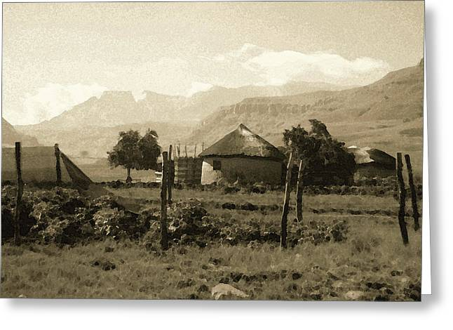 Rondavel In The Drakensburg Greeting Card