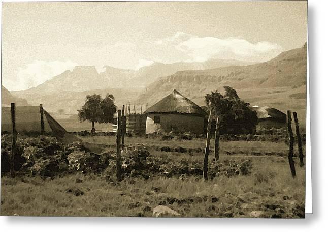 Rondavel In The Drakensburg Greeting Card