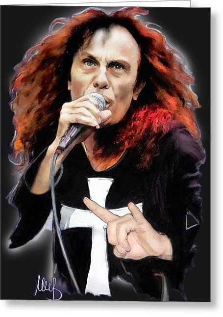 Ronnie James Dio Greeting Card