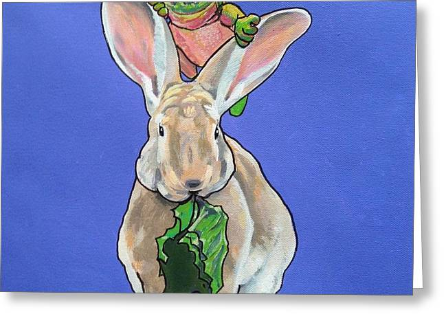 Ronnie The Rabbit Greeting Card