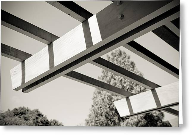 Roof Beams Greeting Card by Edward Myers